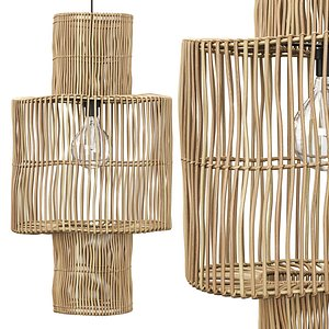 3D Hanging rattan lamp shade by Tine K Home model