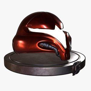 Metroid Samus Aran helmet model