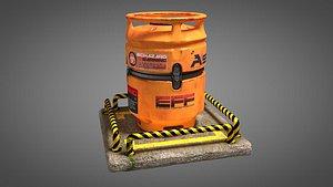 tank biohazard container 3D