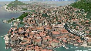 3D model Fantasy RPG Town
