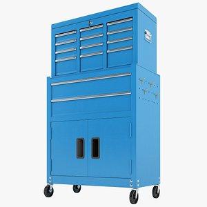 Tool Box Trolley Storage Garage 03 3D model