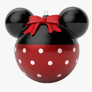 3D model christmas ball minnie mouse