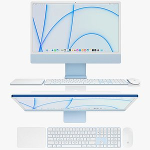 Apple iMac 24-inch 2021 full set 2 3D