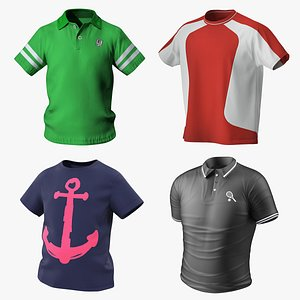 T-Shirts Collection 3D model