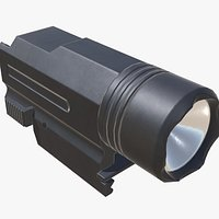 1WSL Tactical Flashlight Low-poly