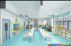 3D Kindergarten, Kindergarten, Classroom, Early Education Center, Nursery, Children's Multimedia Room,