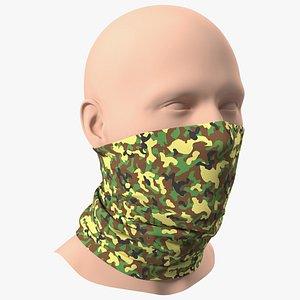 Breathable Half Face Neck Gaiter Camouflage 3D model