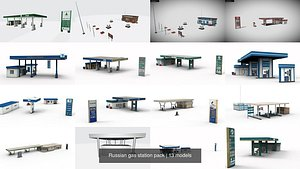 Russian gas station pack 3D model