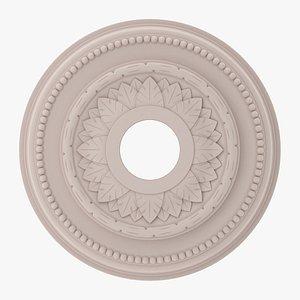 Classic Ceiling Medallion 26 3D