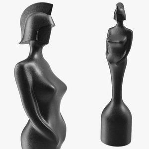 BRIT Award Statue Matte 3D model
