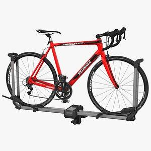 Thule Helium Aluminum Platform with Road Bike 3D