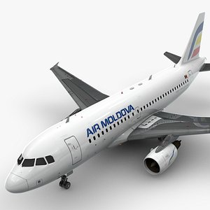 3D AirbusA319-100AIR MOLDOVAL1432