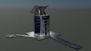3D model Modern communication station