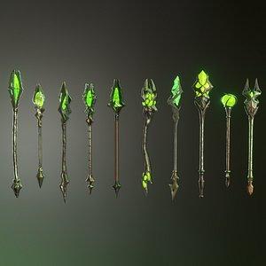 3D staff fantasy