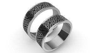 3D jewelry rings slavic pattern