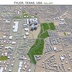 3D Tyler Texas USA model