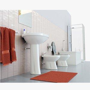 Bathroom Complete Furniture Set 3D model
