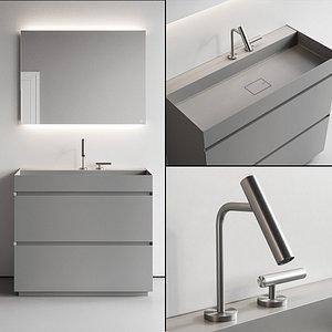 vanity pure unit washbasin 3D model