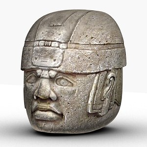 olmec head 3D model