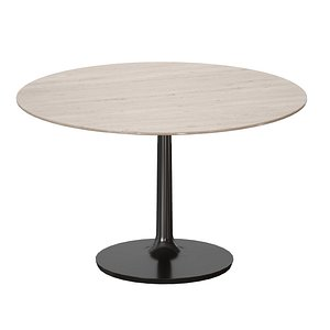 3D model dining table nero marble