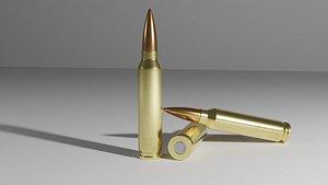 3D ammo bullet case model