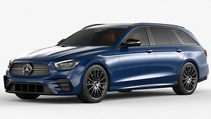 3D Mercedes-Benz E-Class Estate 2021 model