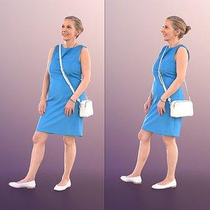 3D woman elderly summer model