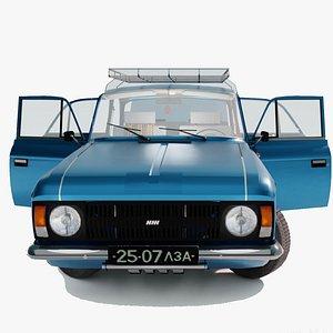 moskvitch 412 3D model