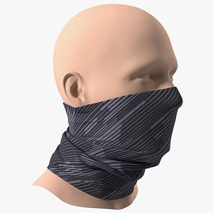Elastic Half Face Neck Gaiter 3D