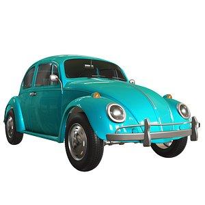 3D Classic Car 1960s model