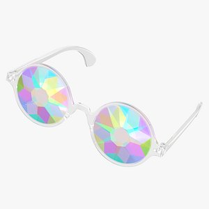 3D model crystal glasses