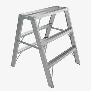 sawhorse ladder foldable 3D model