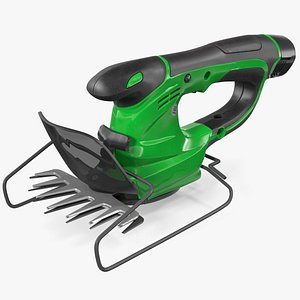 3D cordless electric grass shear model