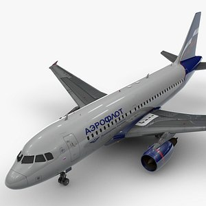 AirbusA319-100AEROFLOTL1431 3D