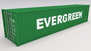 3D Evergreen Shipping Container model