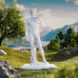 3D statue david michelangelo