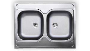Sink UKINOX 2 bowl 800 x 600 3D