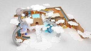 Silde the scene 3D model