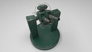 turret animation 3D model