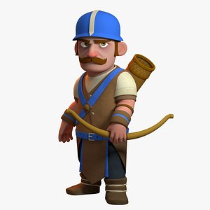 stylized archer character games 3D