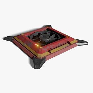 3D Ceiling Ventilation Fan model