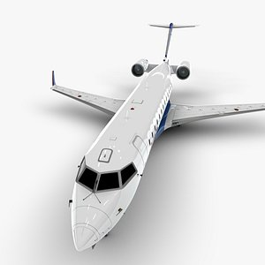 aero bombardier crj 200 3D