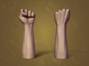 Fist Figurine 3D