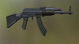 3D model AK-47 Assault Rifle