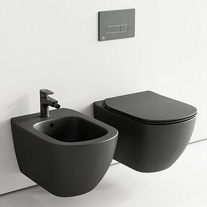 3D Ideal Standard Tesi Wall-Hang WC art. T3546V3 art. T3552V3