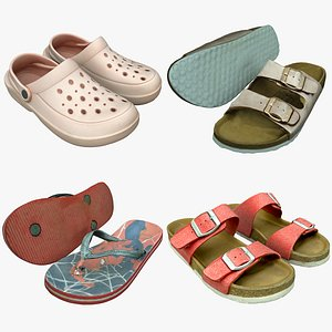 3D Shoe Collection 24 Slippers model