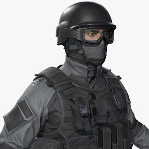 3D police special force officer