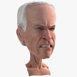 3D Cartoon Joe Biden Head Rigged for Maya