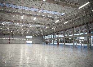 Warehouse Interior 3D Model 3D