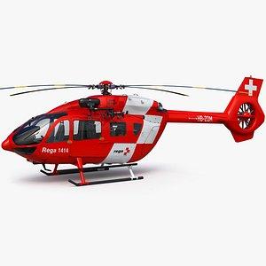 Airbus H145 Emergency REGA Switzerland 3D model